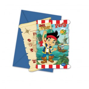 6 Die-cut Invitations & Envelopes - Captain Jake