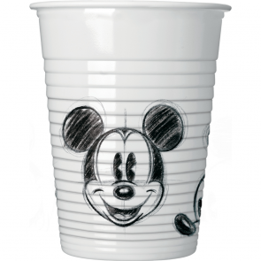 25 Plastic Cups 200ml - Mickey Faces