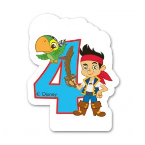 1 Birthday Numeral Candles No 4 - Captain Jake