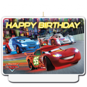 "1 ""Happy Birthday"" Décor Candle - Cars"