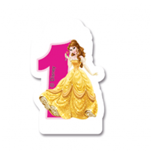 1 Birthday Numeral Candles No 1 - Princess Dreaming