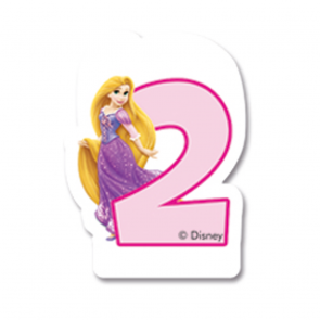 1 Birthday Numeral Candles No 2 - Princess Dreaming