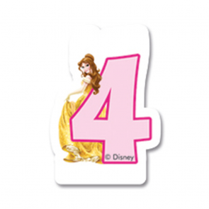 1 Birthday Numeral Candles No 4 - Princess Dreaming