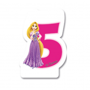 1 Birthday Numeral Candles No 5 - Princess Dreaming