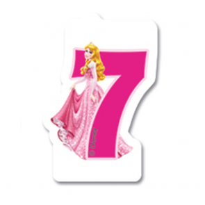 1 Birthday Numeral Candles No 7 - Princess Dreaming