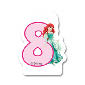 1 Birthday Numeral Candles No 8 - Princess Dreaming