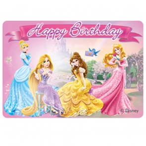 "1 ""Happy Birthday"" Décor Candle - Disney Princess"