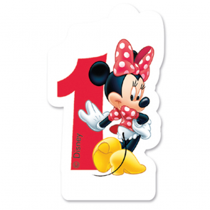 1 Birthday Numeral Candles No 1 - Minnie Mouse