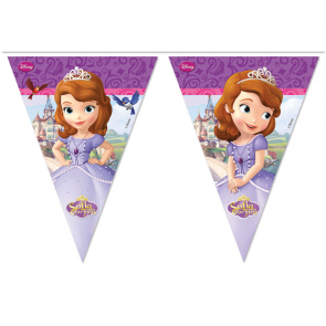 1 Triangle Flag Banner ( 9 flags ) - Sofia The First