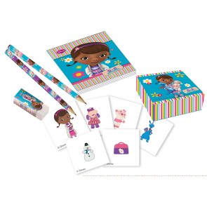 16 Stationery pack ( 4 pencils, 4 notebooks, 4 erasers & 4 sticker boxes) - Doc Mc Stuffins