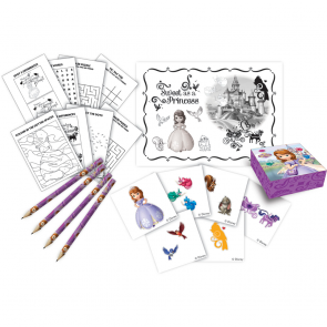 16 Activity pack (4 pencils,4 sticker boxes, 4 activity booklets, 4 sticker sheets) - Sofia Pearl of The Sea