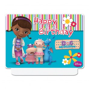 "1 Happy Birthday"" Décor Candle - Doc Mc Stuffins"""