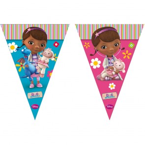 1 Triangle Flag Banner ( 9 flags ) - Doc Mc Stuffins