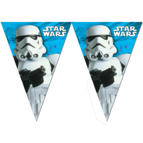 1 Triangle Flag Banner (9 flags)  -  Star Wars Final Battle