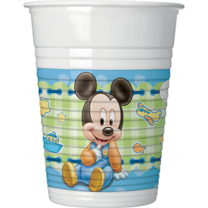 8 Plastic Cups 200 ml  - Baby Mickey