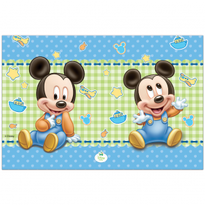 1 Plastic Tablecover 120x180cm  - Baby Mickey