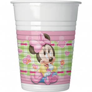 8 Plastic Cups 200 ml  - Baby Minnie