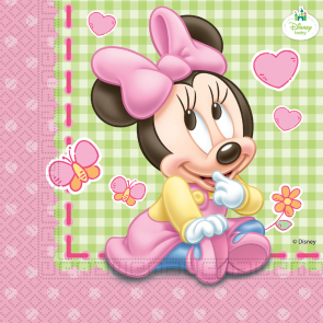 20 Two-ply Paper Napkins 33x33cm  - Baby Minnie