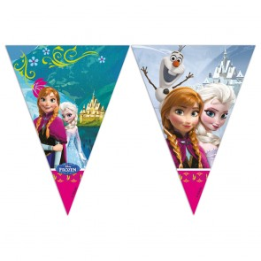 1 Triangle Flag Banner (9 flags) - Frozen Alpine