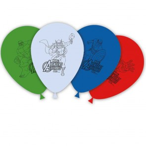 8 11 inches Printed Balloons  -  Mighty Avengers