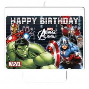 "1 Happy Birthday"" Décor Candle - Avengers Power"""