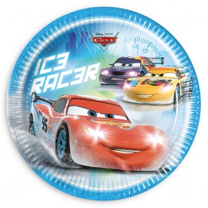8 Paper Plates Large  23cm - Cars Ice