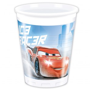 8 Plastic Cups 200 ml - Cars Ice