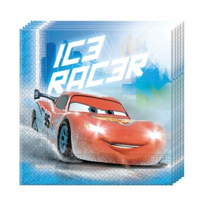20 Two-ply Paper Napkins 33x33cm - Cars Ice