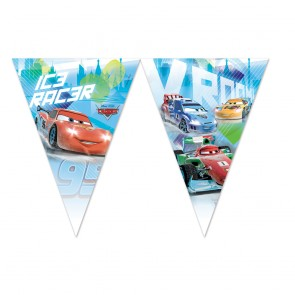 1 Triangle Flag Banner (9 flags) - Cars Ice