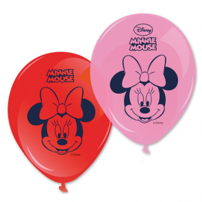 8 11 inches  Printed Balloons - Minnie Dots