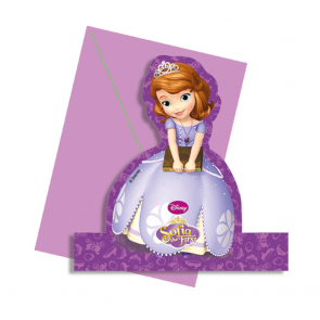 4 Standing Figure Invites - Sofia The First