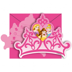 6 Die-cut Invitations & Envelopes - Princess Dreaming