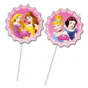 6 Medallion Flexi Drinking Straws - Princess Dreaming
