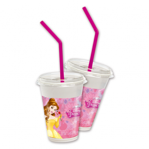 12 Milkshake Cups - Princess Dreaming