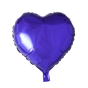 foilballoon heartshape, 18'' - purple, singlepacked