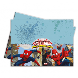 1 Plastic Tablecover 120x180cm - Ultimate Spiderman Web Warriors