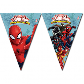 1 Triangle Flag Banner (9 flags) - Ultimate Spiderman Web Warriors