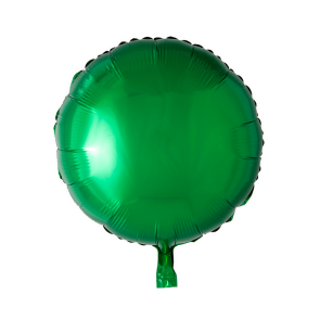 Foilballoon round, 18'' - green, singlepacked