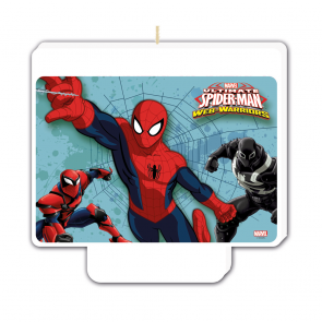 "1 Happy Birthday"" Décor Candle - Ultimate Spiderman Web Warriors"""