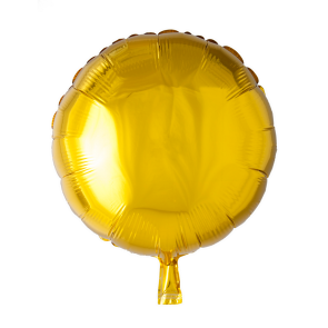 Foilballoon round, 18'' - gold, singlepacked