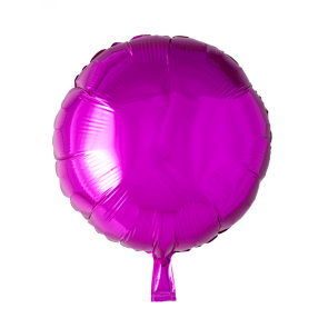 Foilballoon round, 18'' - hot pink, singlepacked