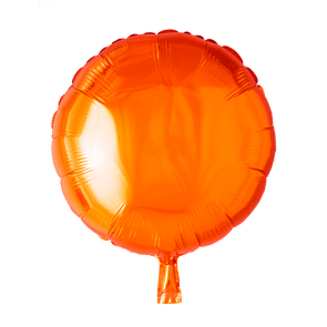 Foilballoon round, 18'' - orange, singlepacked