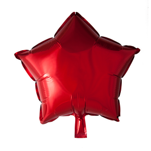 Foilballoon star, 18'' - red, singlepacked