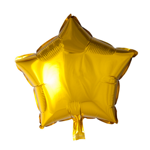 Foilballoon star, 18'' - gold, singlepacked