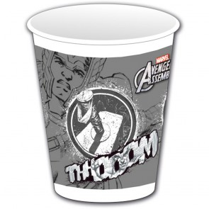8 Plastic Cups 200 ml Thor - Avengers Teen