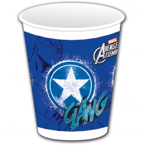 8 Plastic Cups 200 ml Captain America - Avengers Teen