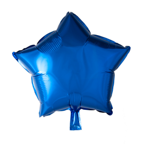 Foilballoon star, 18'' - navy blue, singlepacked