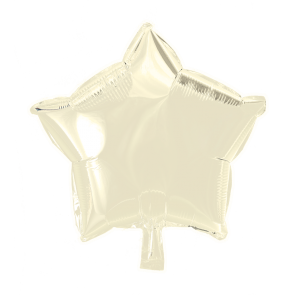 Foilballoon star, 18'' - ivory, singlepacked