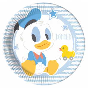 8 Paper Plates Medium 20cm - Infant Mickey
