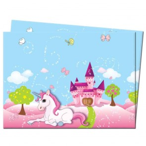 1 Plastic Tablecover 120x180cm - Unicorn